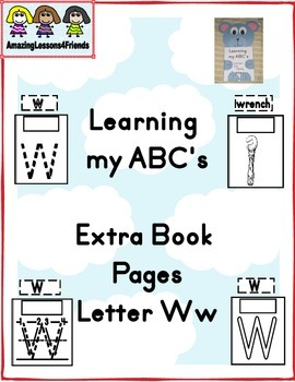 Learning my ABC's Letter Ww Extra pages