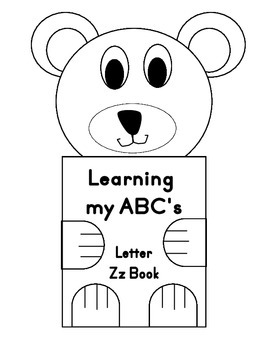 Learning my ABC's Letter Zz Book