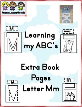 Learning my ABC's letter Mm Extra Pages