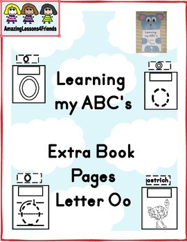 Learning my ABC's letter Oo Extra Pages