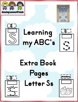 Learning my ABC's letter Ss Extra Pages