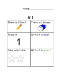 Learning numbers 1-10