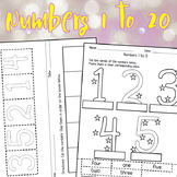 Learning numbers 1-20 (English & Spanish) worksheets39