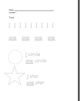 Learning numbers 1 through 5