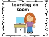 Learning on Zoom™ Social Story