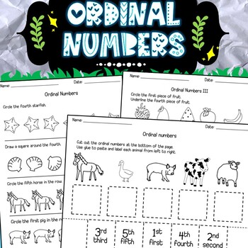 Learning ordinal numbers worksheets.
