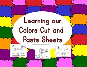 Learning our Colors Cut and Paste Sheets