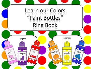 Learning our Colors Paint Bottles Ring Book