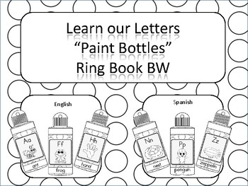 Learning our Letters Paint Bottle Ring Book BW