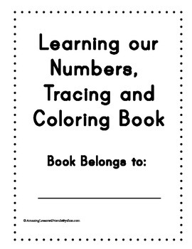 Learning our Numbers Tracing and Coloring book