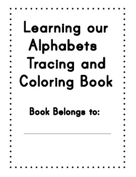 Learning our Tracing and coloring book