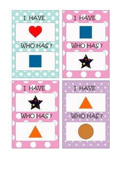 Learning shapes in English. Flashcards for activity with kids,