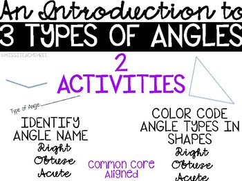 Learning the 3 Angle Types (Right, Acute, Obtuse)