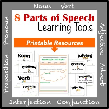 8 Parts of Speech Learning Tools