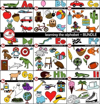 Learning the Alphabet - BUNDLE Clipart by Poppydreamz