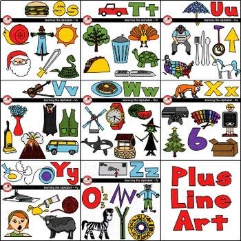 Learning the Alphabet - BUNDLE Clipart by Poppydreamz