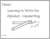 Learning the Alphabet - Handwriting Edition