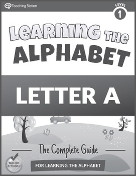Learning the Alphabet Letter A Workbook {BW}