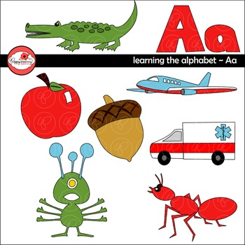 Learning the Alphabet - The Letter A Clipart by Poppydreamz