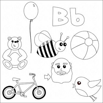 Learning the Alphabet - The Letter B Clipart by Poppydreamz