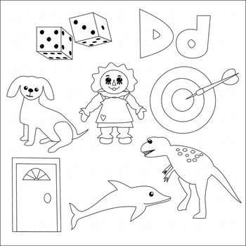 Learning the Alphabet - The Letter D Clipart by Poppydreamz