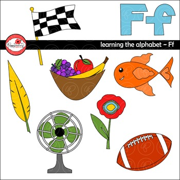 Learning the Alphabet - The Letter F Clipart by Poppydreamz