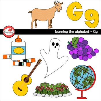 Learning the Alphabet   The Letter G Clipart by Poppydreamz | TpT