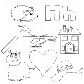 Learning the Alphabet - The Letter H Clipart by Poppydreamz