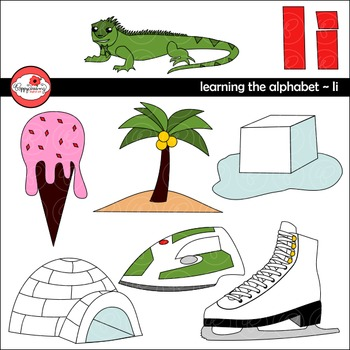Learning the Alphabet - The Letter I Clipart by Poppydreamz