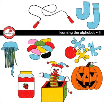 Learning the Alphabet - The Letter J Clipart by Poppydreamz