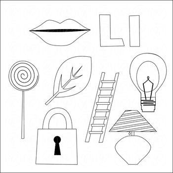 Learning the Alphabet - The Letter L Clipart by Poppydreamz