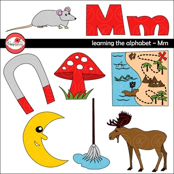 Learning the Alphabet - The Letter M Clipart by Poppydreamz