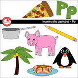 Learning the Alphabet - The Letter P Clipart by Poppydreamz