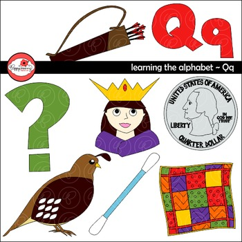 learning the alphabet the letter q clipart by poppydreamz
