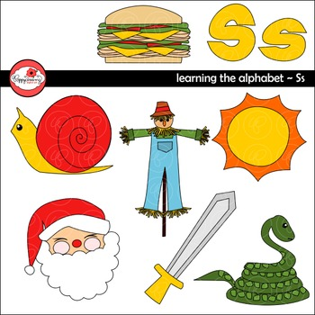 Learning the Alphabet - The Letter S Clipart by Poppydreamz