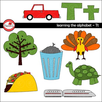 Learning the Alphabet - The Letter T Clipart by Poppydreamz