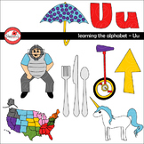 Learning the Alphabet - The Letter U Clipart by Poppydreamz