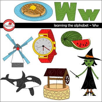 Learning the Alphabet - The Letter W Clipart by Poppydreamz