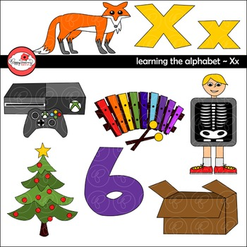 Learning the Alphabet   The Letter X Clipart by Poppydreamz | TpT