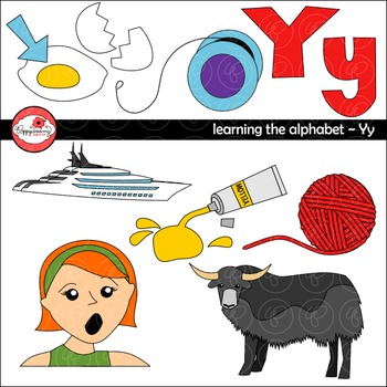Learning the Alphabet - The Letter Y Clipart by Poppydreamz