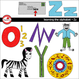Learning the Alphabet - The Letter Z Clipart by Poppydreamz