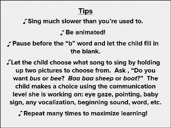 Learning the B Sound with Music, Speech Therapy, Music Activity