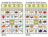 Learning the Food Groups Bingo