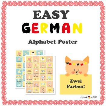 Learning the German Alphabet - Alphabet Poster
