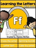 Learning the Letter F Mini Book
