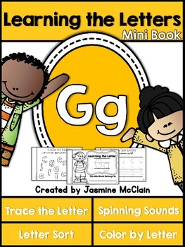 Learning the Letter G Mini Book