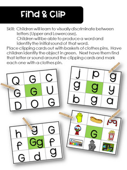 Learning the Letter Gg