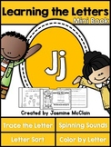 Learning the Letter J Mini Book