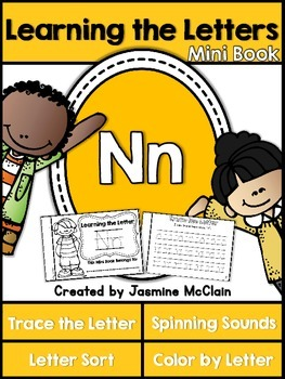 Learning the Letter N Mini Book