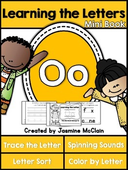 Learning the Letter O Mini Book